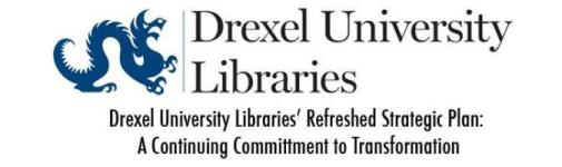 Drexel University Libraries Logo with text that says