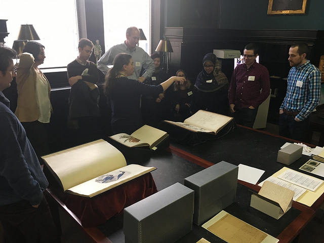 JAS-Bio attendees tour the Library and Archives at The Academy of Natural Sciences of Drexel University