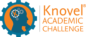 Knovel Academic Challenge logo, which is the outline of a head inside a gear