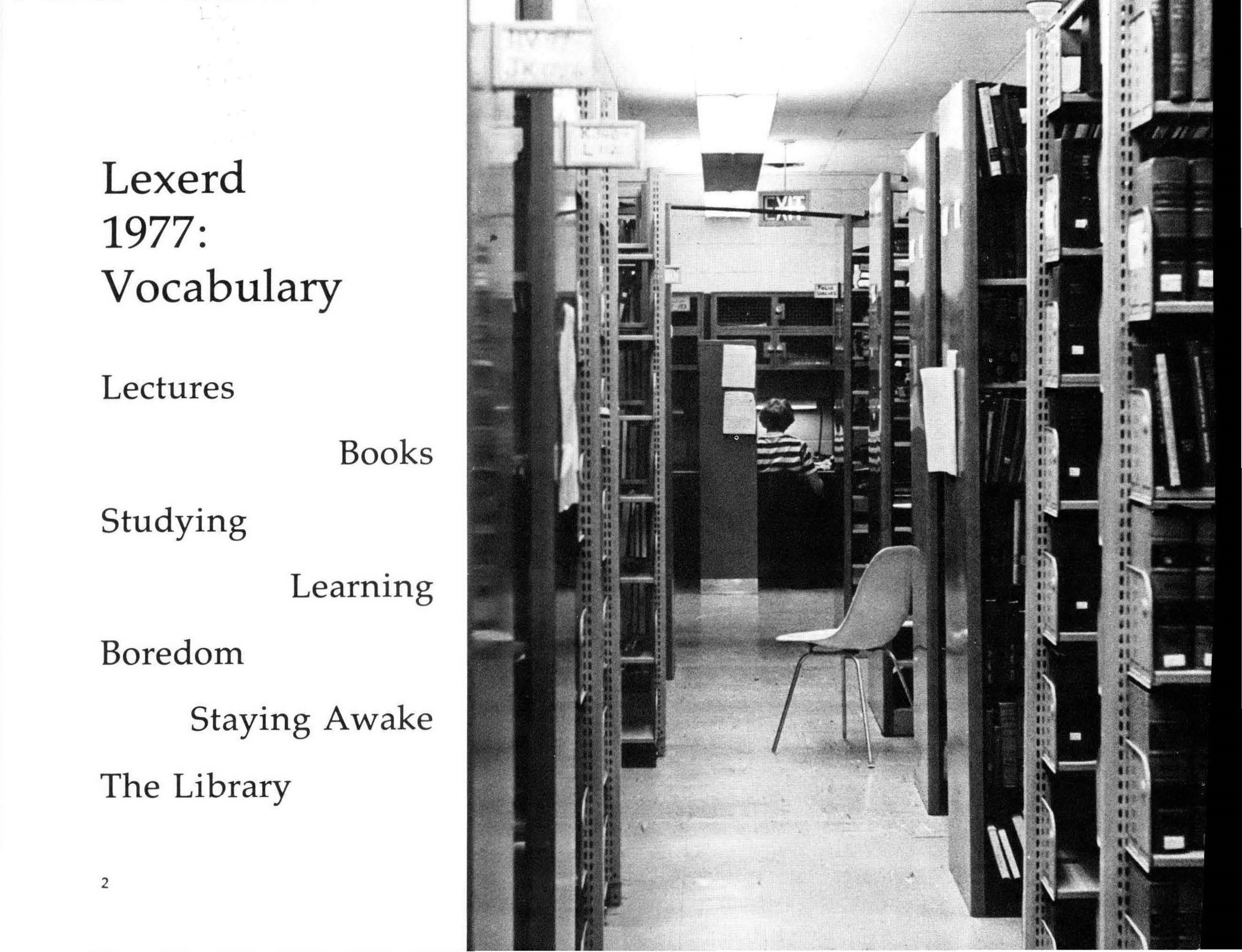 The library stacks