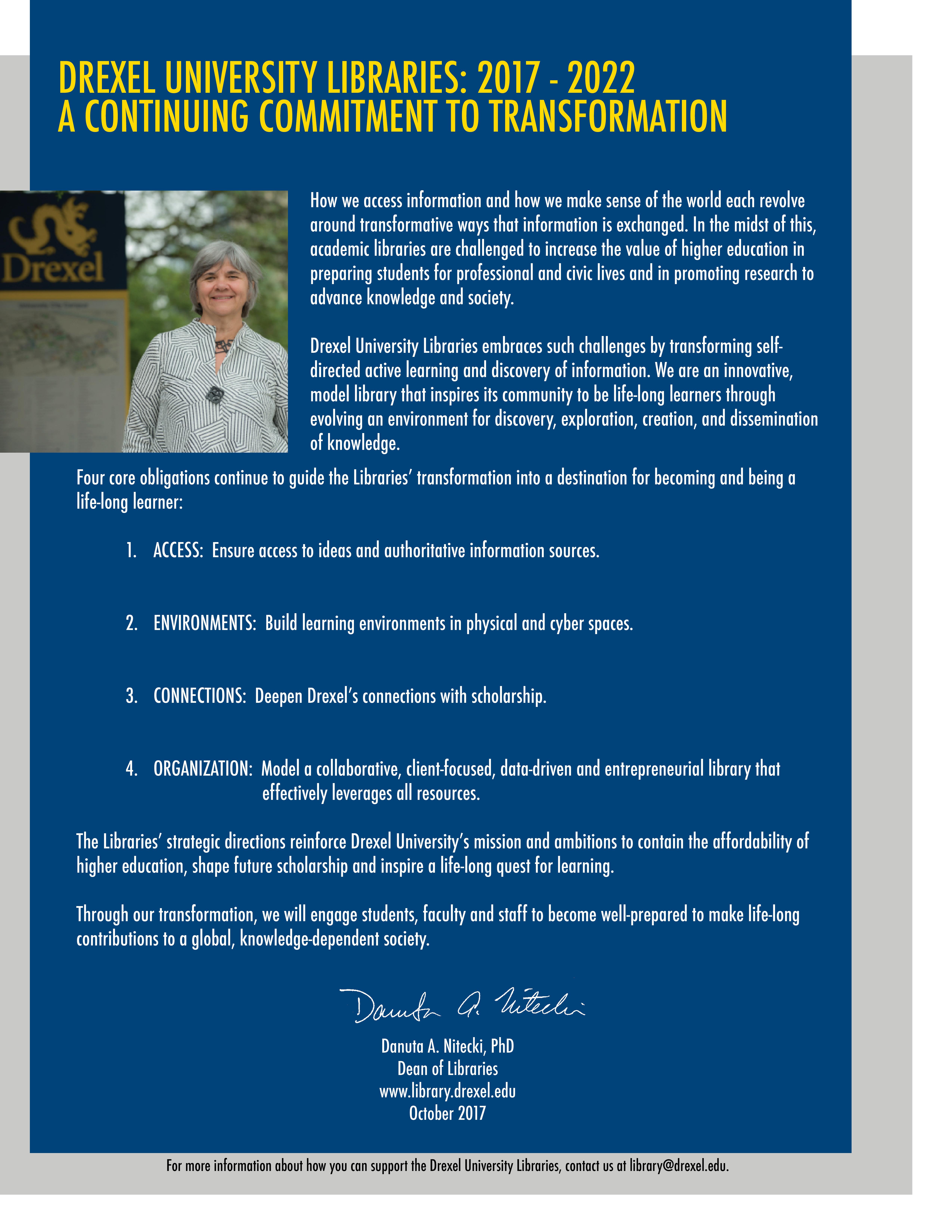 strategic plan drexel university
