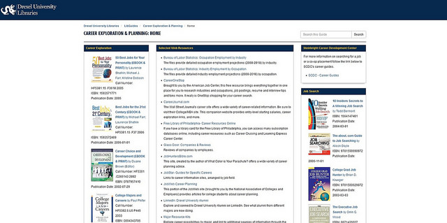 A screenshot of the Libraries' co-op libguide