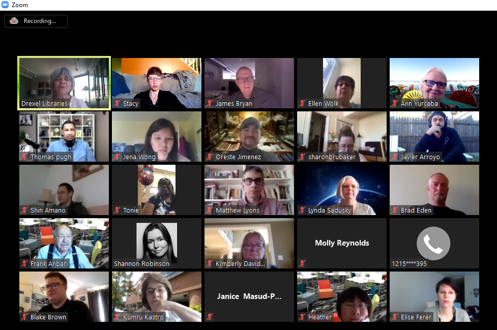 A screenshot of an online Zoom meeting with over 40 participants